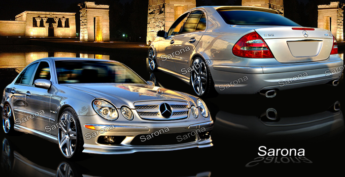 Custom Mercedes E Class  Sedan Body Kit (2003 - 2007) - $1395.00 (Manufacturer Sarona, Part #MB-022-KT)