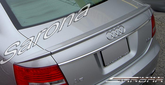 Custom Audi A6 Trunk Wing  Sedan (2005 - 2008) - $299.00 (Manufacturer Sarona, Part #AD-008-TW)