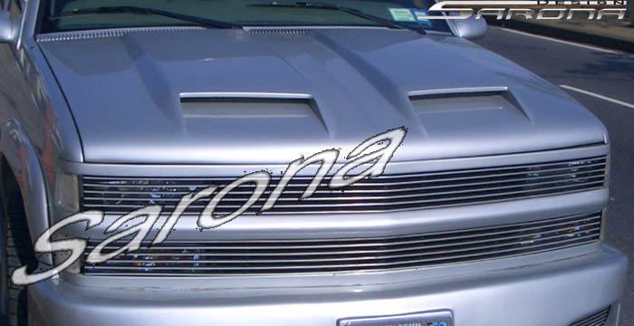 Yukon Gmc Chevy Tahoe Hood Scoop Custom Sport Body Kit Sarona Design Suburban Mesh Sport Chrome Grill Roof Wing Spoiler