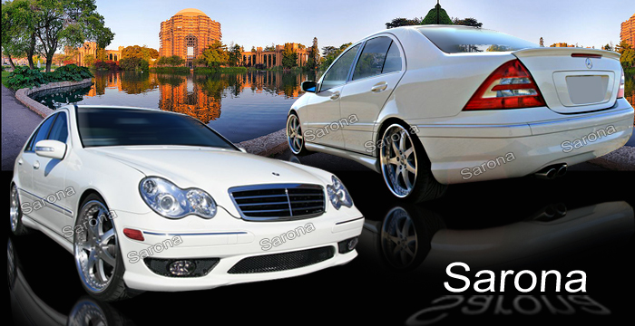 Custom mercedes c class sedan body kit 2001 2007 for Mercedes benz c300 aftermarket accessories