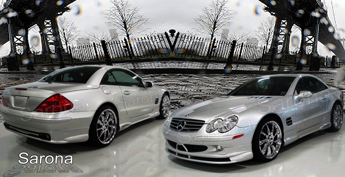 Custom Mercedes SL  Convertible Body Kit (2003 - 2008) - $1490.00 (Manufacturer Sarona, Part #MB-032-KT)
