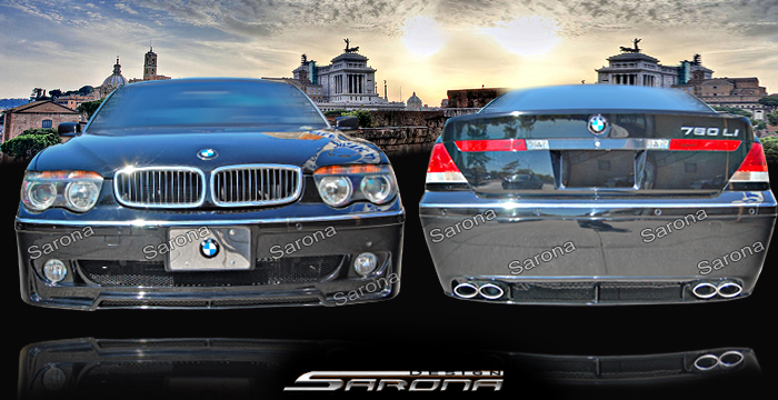 Custom BMW 7 Series Body Kit  Sedan (2002 - 2005) - $1450.00 (Manufacturer Sarona, Part #BM-031-KT)