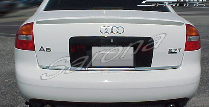 Custom Audi A6 Trunk Wing  Sedan (1998 - 2004) - $229.00 (Manufacturer Sarona, Part #AD-014-TW)