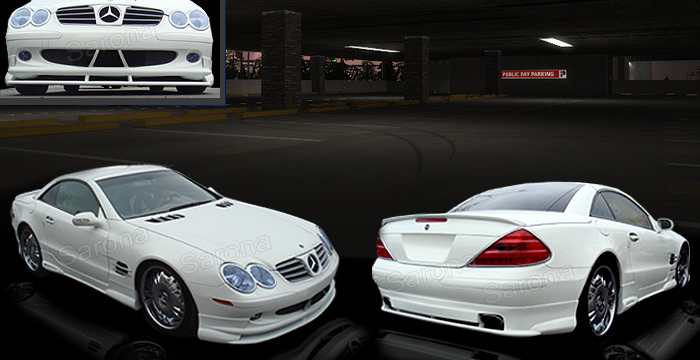 Custom Mercedes SL  Convertible Body Kit (2003 - 2008) - $1490.00 (Manufacturer Sarona, Part #MB-041-KT)