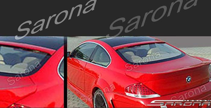 Custom BMW 6 Series Roof Wing  Coupe (2004 - 2011) - $279.00 (Manufacturer Sarona, Part #BM-014-RW)