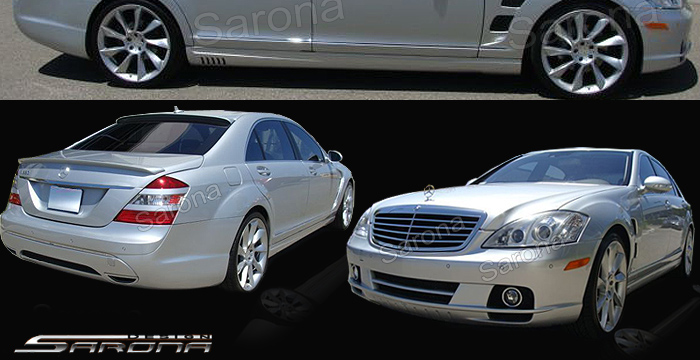 Custom Mercedes S Class Sedan Front Add On Lip 2007