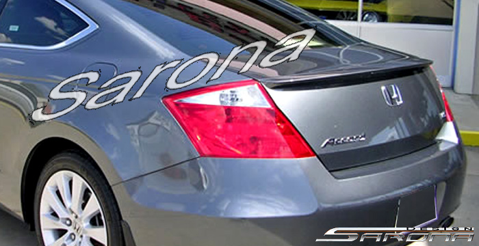 Honda accord coupe black with spoiler