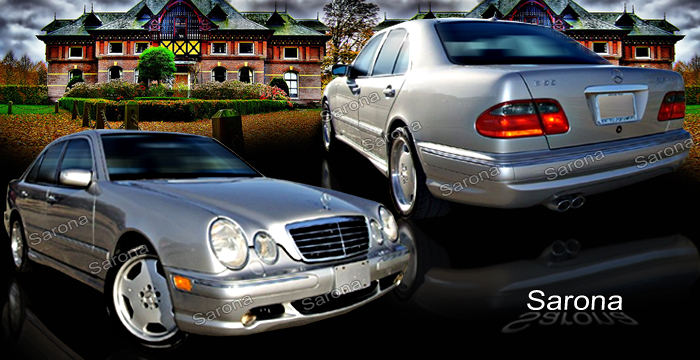 Custom Mercedes E Class Body Kit  Sedan (2000 - 2002) - $1390.00 (Manufacturer Sarona, Part #MB-046-KT)