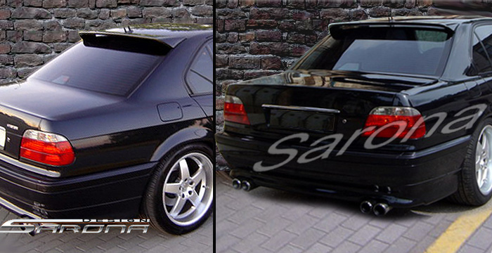 Custom BMW 7 Series Roof Wing  Sedan (1995 - 2001) - $399.00 (Manufacturer Sarona, Part #BM-021-RW)
