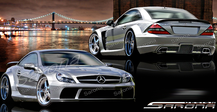 Custom Mercedes SL  Convertible Body Kit (2003 - 2012) - $9500.00 (Manufacturer Sarona, Part #MB-050-KT)