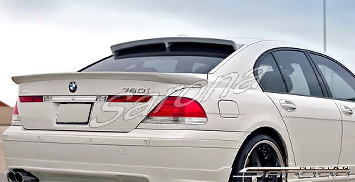 Custom BMW 7 Series Roof Wing  Sedan (2002 - 2008) - $390.00 (Manufacturer Sarona, Part #BM-023-RW)