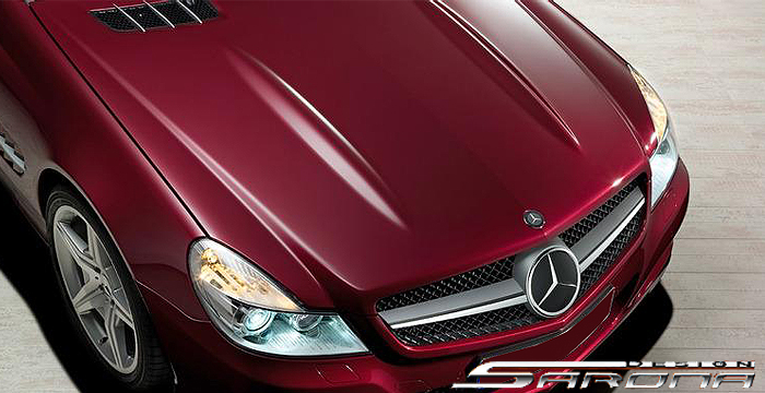 Custom Mercedes SL Hood  Convertible (2009 - 2011) - $890.00 (Manufacturer Sarona, Part #MB-001-HD)