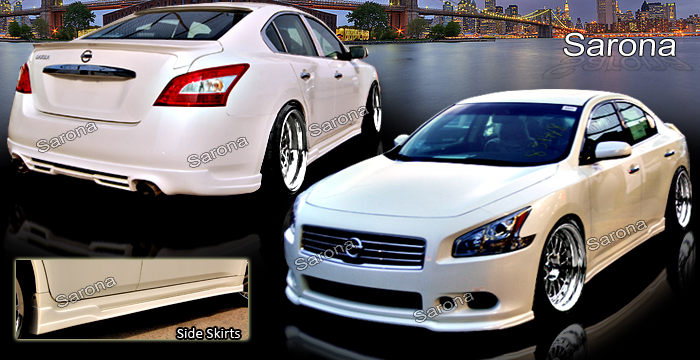 Custom Nissan Maxima Side Skirts Sedan 2004 2008