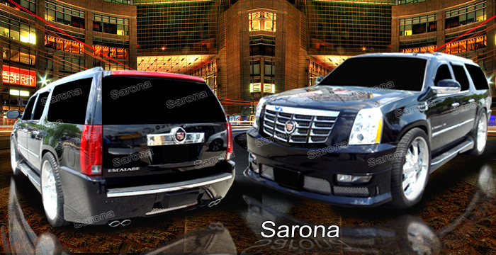 Cadillac Escalade Custom Body Kit Spoiler Sarona Front Rear Bumper Cover Side Skirts Roof Wing Accessorieschrome Mesh Sport Mesh