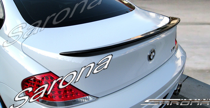 Custom BMW 6 Series Trunk Wing  Coupe (2004 - 2007) - $340.00 (Manufacturer Sarona, Part #BM-059-TW)