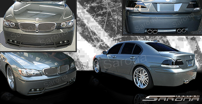 Custom BMW 7 Series Body Kit  Sedan (2005 - 2008) - $2900.00 (Manufacturer Sarona, Part #BM-054-KT)