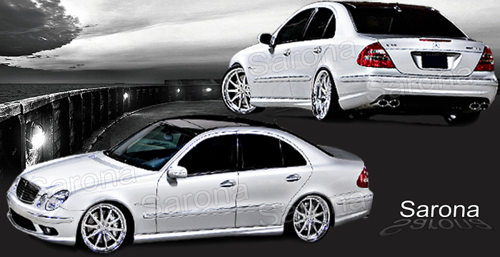 Custom Mercedes E Class Body Kit  Sedan (2003 - 2009) - $1490.00 (Manufacturer Sarona, Part #MB-101-KT)