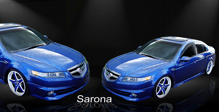 custom acura tl front bumper add on sedan front add on lip. Black Bedroom Furniture Sets. Home Design Ideas