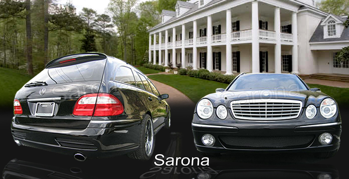 Custom Mercedes E Class  Station Wagon Body Kit (2003 - 2009) - $1690.00 (Manufacturer Sarona, Part #MB-114-KT)