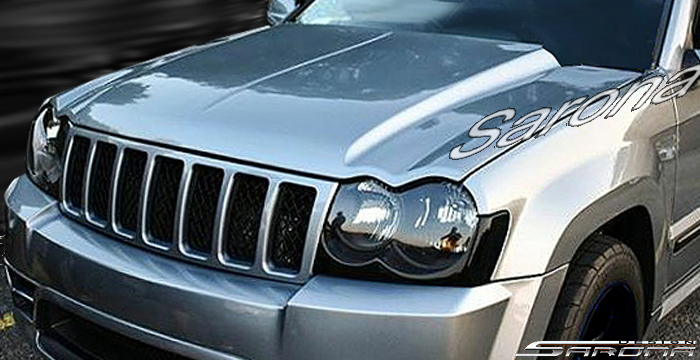 Custom Jeep Grand Cherokee Hood  SUV/SAV/Crossover (2005 - 2010) - $790.00 (Part #JP-002-HD)