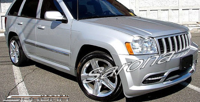 Custom Jeep Grand Cherokee Side Skirts  SUV/SAV/Crossover (2005 - 2010) - $490.00 (Part #JP-001-SS)
