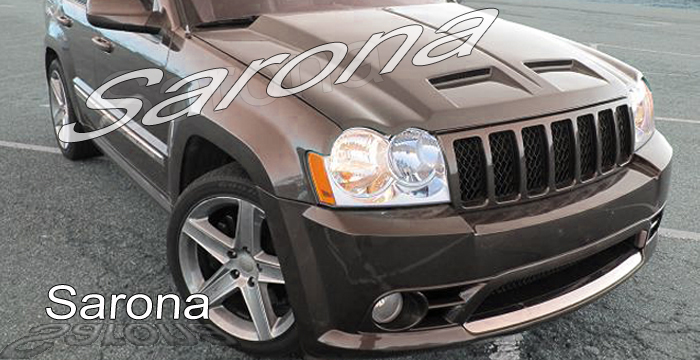 Custom Jeep Grand Cherokee Hood  SUV/SAV/Crossover (2005 - 2010) - $790.00 (Part #JP-003-HD)