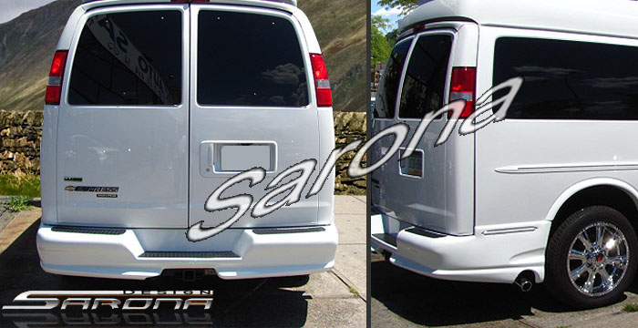 Custom Chevy Van Rear Bumper All Styles 1996