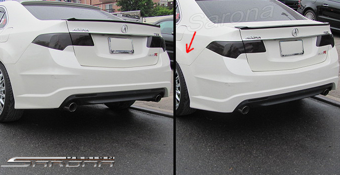 Acura Tsx Front Custom Rear Bumper Side Body Kit Spoiler Roof Trunk Wing Hood Grill Led Black Mesh Sarona Type R