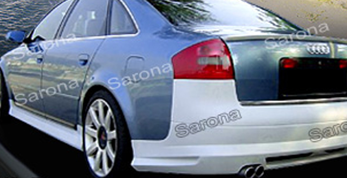 Custom Audi A6  Sedan Side Skirts (1998 - 2004) - $290.00 (Part #AD-006-SS)