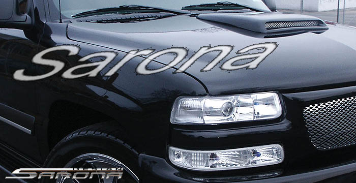 Custom Chevy Tahoe Hood Scoop  SUV/SAV/Crossover (2000 - 2005) - $219.00 (Manufacturer Sarona, Part #CH-001-HS)