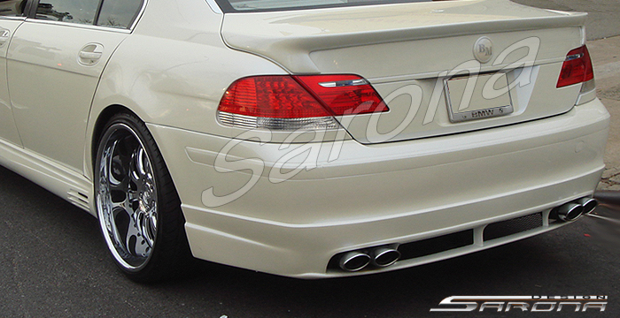 Custom BMW 7 Series  Sedan Rear Bumper (2005 - 2008) - $690.00 (Part #BM-018-RB)