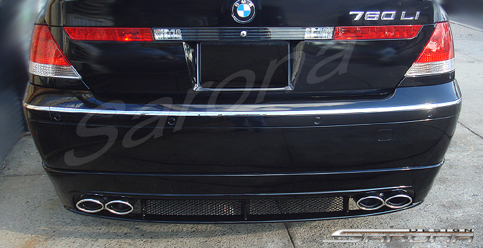 Custom BMW 7 Series Sedan Rear Bumper 2002