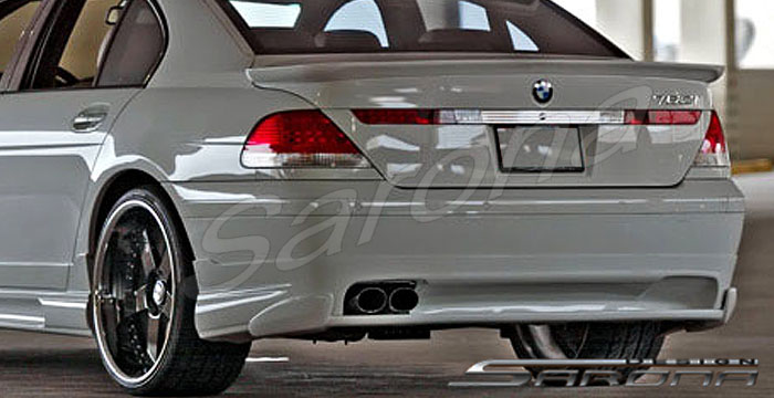 Custom BMW 7 Series Sedan Rear Add On Lip 2002