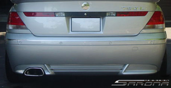 Custom BMW 7 Series  Sedan Rear Add-on Lip (2002 - 2005) - $299.00 (Part #BM-009-RA)