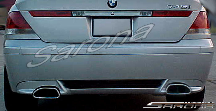 Custom BMW 7 Series  Sedan Rear Add-on Lip (2002 - 2005) - $299.00 (Part #BM-010-RA)