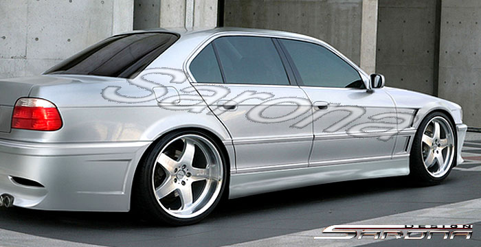 Custom BMW 7 Series Sedan Side Skirts 1995
