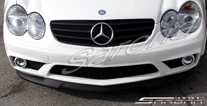 Custom Mercedes SL  Convertible Front Add-on Lip (2003 - 2008) - $299.00 (Part #MB-011-FA)