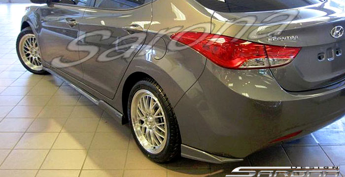 Custom Hyundai Elantra Sedan Side Skirts 2011 2013