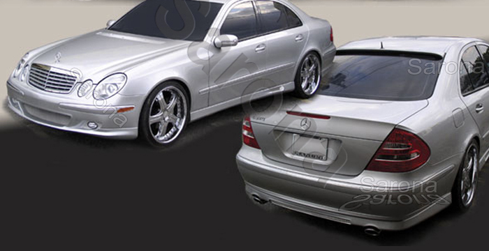 Custom Mercedes E Class Body Kit  Sedan (2003 - 2007) - $1290.00 (Manufacturer Sarona, Part #MB-009-KT)