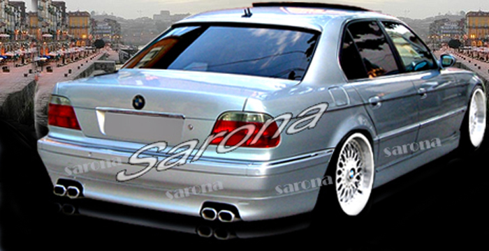 Custom BMW 7 Series Sedan Rear Add On Lip 1995