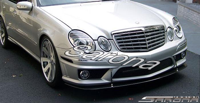 Custom Mercedes E Class Sedan Front Add On Lip 2003 2009 490 00 Part Mb 014 Fa