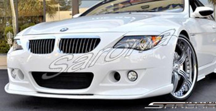 Custom BMW 6 Series  Coupe & Convertible Front Add-on Lip (2004 - 2010) - $350.00 (Part #BM-032-FA)