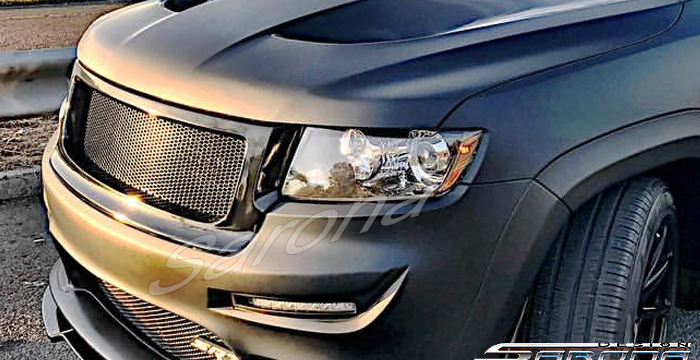 Jeep Grand Cherokee Custom Front Bumper Grill Mesh Lips Spoiler Kits Body Hood Sarona New York Wing Srt Srt on 1995 Jeep Grand Cherokee Custom Bumper