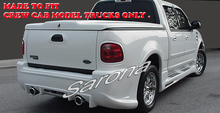Crew Cab Extended Ford F Custom Side Skirts Body Kit Wing Spoiler Air Wind Jammer Customizing Accessories Sarona New York Jersey on 1996 Dodge Truck Hood