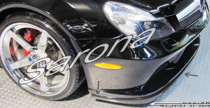 Custom Mercedes SL  Convertible Front Add-on Lip (2009 - 2012) - $1980.00 (Part #MB-018-FA)