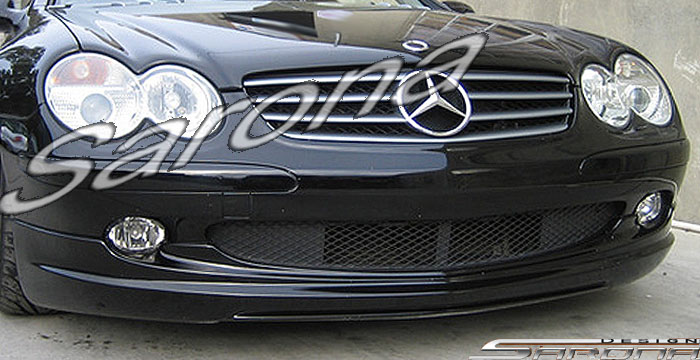 Custom Mercedes SL  Convertible Front Add-on Lip (2003 - 2008) - $550.00 (Part #MB-020-FA)