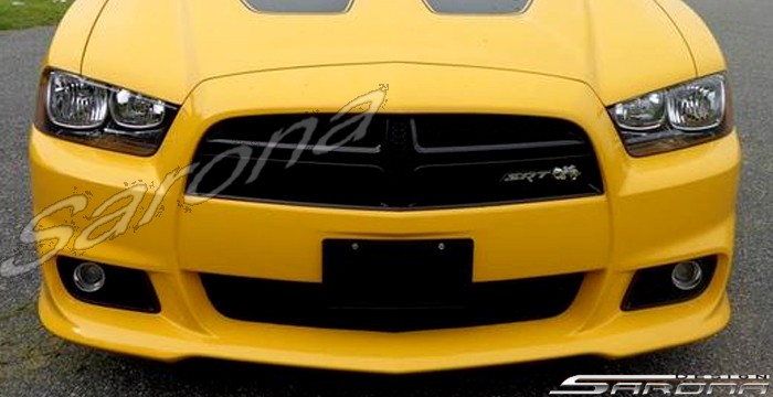 custom dodge charger sedan front bumper 2011 2014. Black Bedroom Furniture Sets. Home Design Ideas