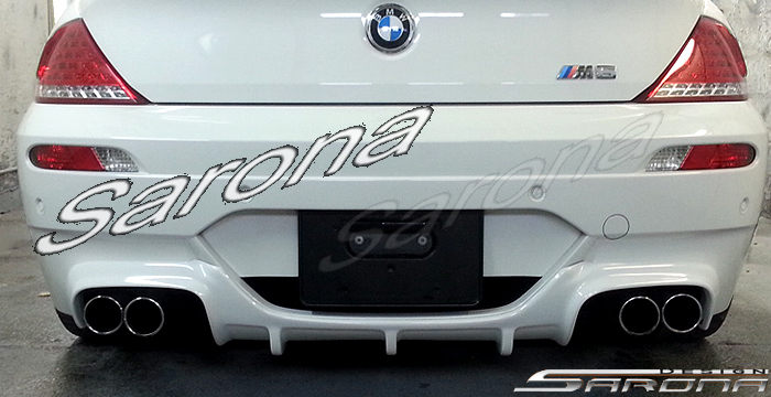 Custom BMW 6 Series  Coupe & Convertible Rear Add-on Lip (2004 - 2010) - $490.00 (Part #BM-017-RA)