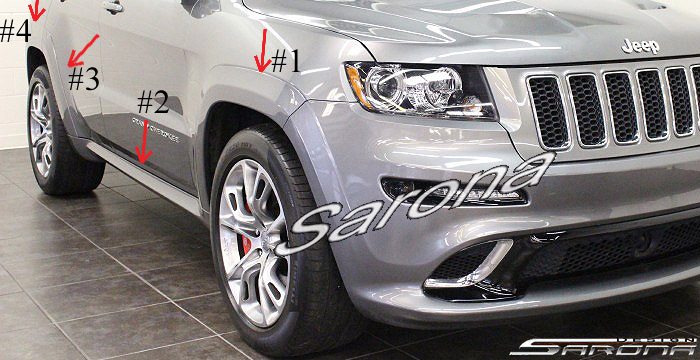 Custom Jeep Grand Cherokee  SUV/SAV/Crossover Fender Flares (2011 - 2019) - $990.00 (Part #JP-002-FF)