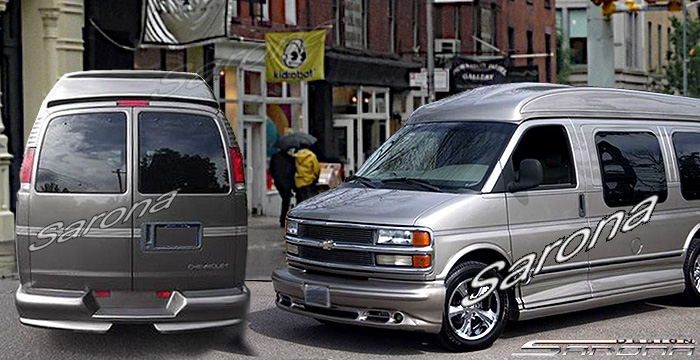 Custom GMC Van All Styles Side Skirts (1996 - 2019